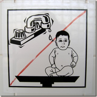 Don't Wash your Baby in the Sink